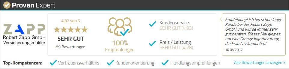 Versicherungsmakler Robert Zapp GmbH Versicherungen im Vergleich Schopfheim Lörrach Freiburg Kundenempfehlungen